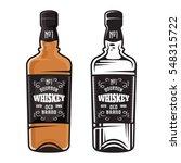 bottle of whiskey two styles...   Shutterstock .eps vector #548315722