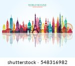 world skyline. travel and... | Shutterstock .eps vector #548316982
