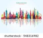 world skyline. travel and... | Shutterstock .eps vector #548316982
