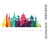 saint petersburg  russia... | Shutterstock .eps vector #548318332