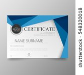 certificate template awards... | Shutterstock .eps vector #548320018