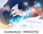 close up business man hands... | Shutterstock . vector #548320702