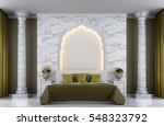 luxury bedroom 3d rendering... | Shutterstock . vector #548323792