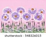 colorful gouache  ink ... | Shutterstock . vector #548326015
