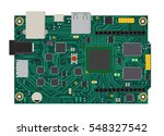 diy electronic mega board with... | Shutterstock .eps vector #548327542