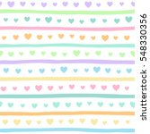 Colorful Hearts And Stripes...