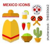 mexico icons. vector... | Shutterstock .eps vector #548330662