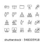 simple set of business... | Shutterstock .eps vector #548335918