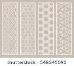decorative white lace borders...   Shutterstock .eps vector #548345092