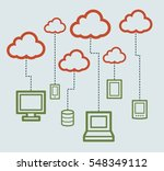 cloud computing concept | Shutterstock .eps vector #548349112