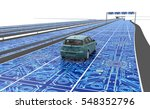 self driving electronic... | Shutterstock . vector #548352796