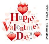 happy valentines day romance...   Shutterstock .eps vector #548352838