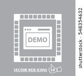 browser icon. web design demo...