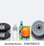 sport equipment on white... | Shutterstock . vector #548358925