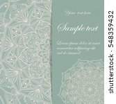 card design. beautiful vintage... | Shutterstock .eps vector #548359432