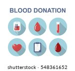 blood donation icons. vector... | Shutterstock .eps vector #548361652