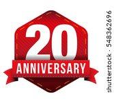 twenty year anniversary badge... | Shutterstock .eps vector #548362696