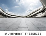 empty floor and modern... | Shutterstock . vector #548368186