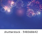 brightly colorful fireworks on... | Shutterstock .eps vector #548368642