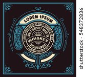 art deco whiskey card | Shutterstock .eps vector #548372836