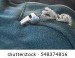 whistle of a soccer   football...   Shutterstock . vector #548374816