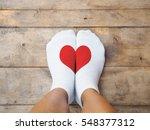 selfie feet wearing yellow... | Shutterstock . vector #548377312