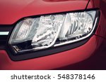 closeup headlights of car. | Shutterstock . vector #548378146
