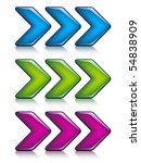 vector arrows | Shutterstock .eps vector #54838909