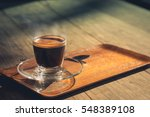 morning coffee on the terrace... | Shutterstock . vector #548389108