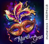 Mardi Gras Mask  Colorful...