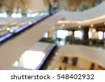 modern shopping mall interior... | Shutterstock . vector #548402932
