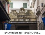 the entrance of naples's... | Shutterstock . vector #548404462