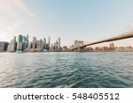 new york skyline in the... | Shutterstock . vector #548405512