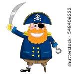 cartoon pirate holding sabre... | Shutterstock .eps vector #548406232