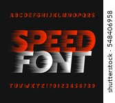 speed alphabet font. wind... | Shutterstock .eps vector #548406958