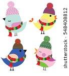 cute birds  | Shutterstock .eps vector #548408812