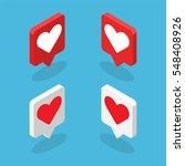 isometric graphics of heart... | Shutterstock .eps vector #548408926