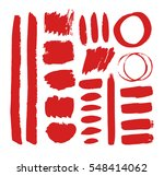 set of hand drawn paint object... | Shutterstock .eps vector #548414062