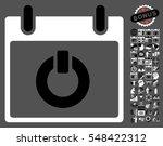 turn on calendar day pictograph ...   Shutterstock .eps vector #548422312