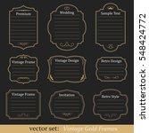 vector set of vintage gold... | Shutterstock .eps vector #548424772