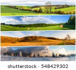 four season nature collage from ... | Shutterstock . vector #548429302