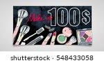 gift voucher of cosmetics  ... | Shutterstock .eps vector #548433058