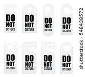 do not disturb door tag design... | Shutterstock .eps vector #548438572