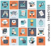 set of flat design icons for... | Shutterstock .eps vector #548447335