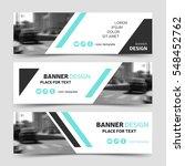 modern horizontal business... | Shutterstock .eps vector #548452762