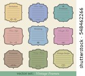 vector set of vintage frames on ... | Shutterstock .eps vector #548462266
