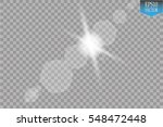 vector transparent sunlight... | Shutterstock .eps vector #548472448