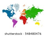 political map of the world.... | Shutterstock .eps vector #548480476