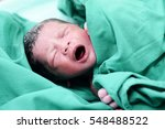 baby crying after birth in... | Shutterstock . vector #548488522