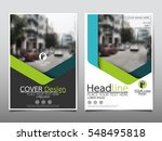 blue and green flyer cover... | Shutterstock .eps vector #548495818